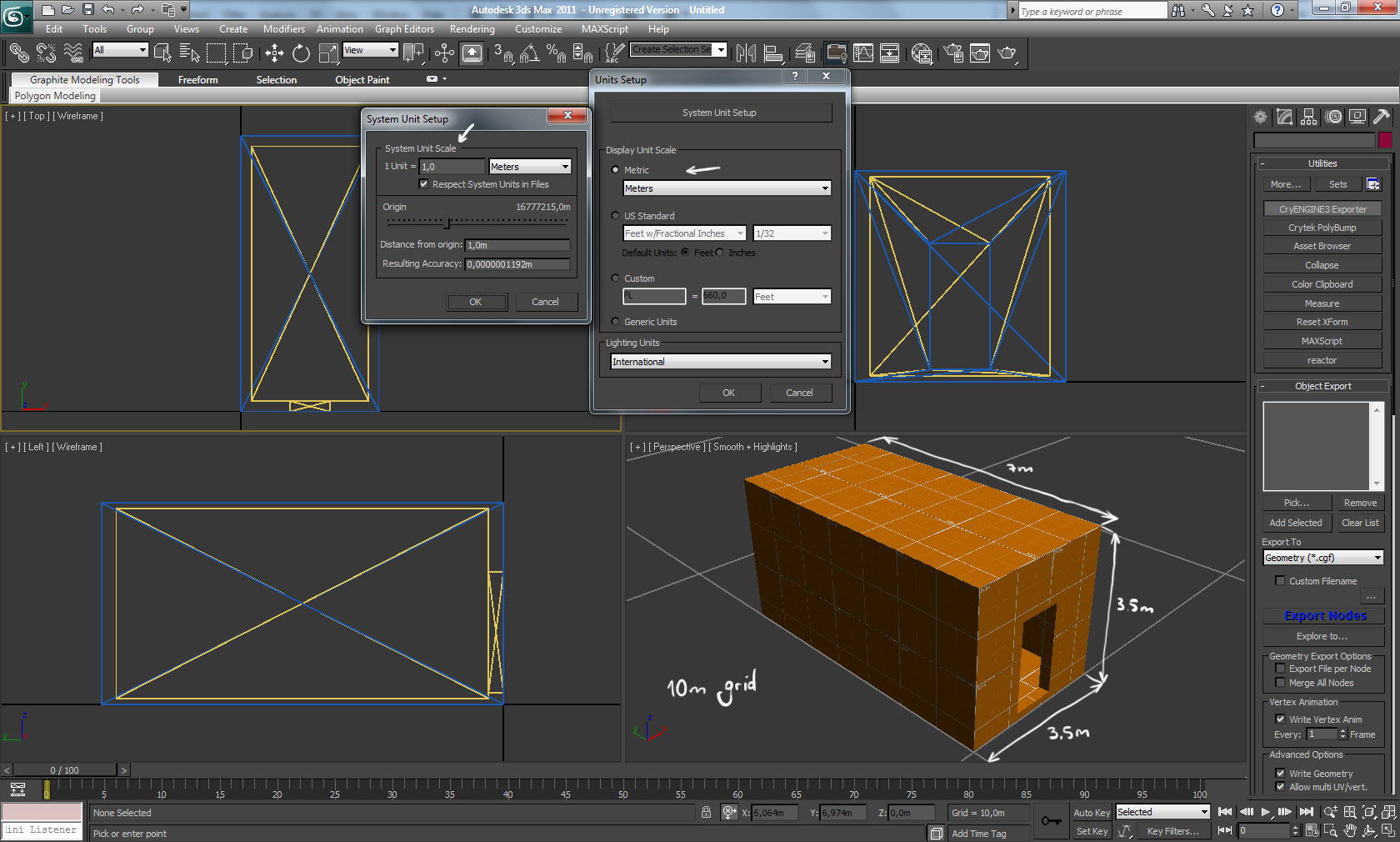 CRYENGINE | [Solved] 3ds Max to Sandbox import size issue